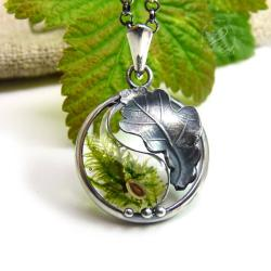 yiin yang,mech,natura,żywica,zen - Naszyjniki - Biżuteria