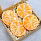 Ceramika i szkło pomarańcza,owoce,zawieszki choinkowe