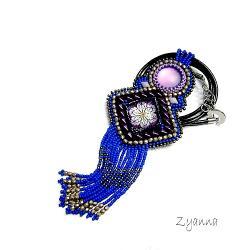 naszyjnik,niebieski,fioletowy - Naszyjniki - Biżuteria