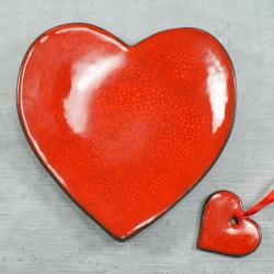 walentynki,upominek walentynkowy,serce,miseczka - Ceramika i szkło - Wyposażenie wnętrz