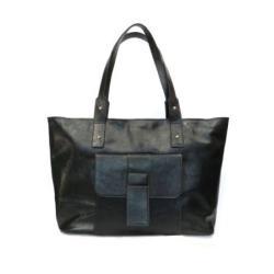 torebka,torebka czarna,skórzana torebka,torba - Na zakupy - Torebki