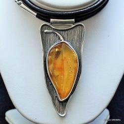 biżuteria,srebro,z bursztynem,wisiory,naszyjniki - Wisiory - Biżuteria