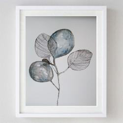 abstrakcja,akwarela,listki - Obrazy - Wyposażenie wnętrz
