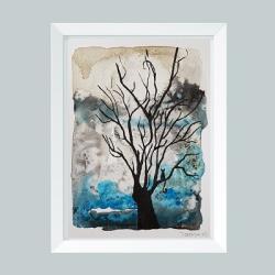 drzewo,akwarela - Obrazy - Wyposażenie wnętrz