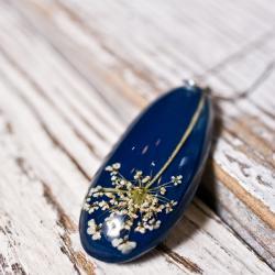 biżuteria z żywicy,srebro,naszyjnik z żywicy - Naszyjniki - Biżuteria