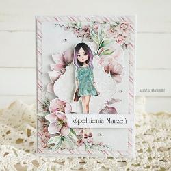 kartka,urodziny,prezent,handmade - Kartki okolicznościowe - Akcesoria