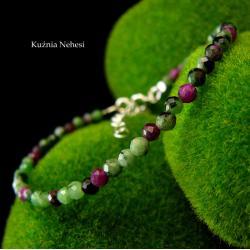 nehesi,srebrny,srebrna,bransoletka,rubinen - Bransoletki - Biżuteria