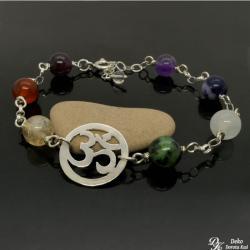 bransoletka,om,7czakr,joga,prezent,kolorowa - Bransoletki - Biżuteria