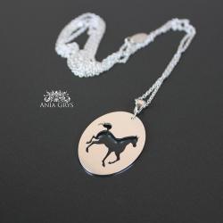 koń,zawieszka,wisiorek,srebrny,ażurowy - Wisiory - Biżuteria