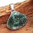 Pierścionki serafinit,srebrny,blask,szary,zima,zieleń,leśny