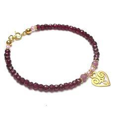 serce,romantyczna,kamienie,minerały - Bransoletki - Biżuteria