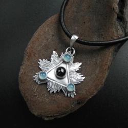 wisior,biżuteria srebrna,rękodzieło,fiann - Wisiory - Biżuteria