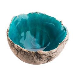 niebieska misa,lazurowa,z gliny - Ceramika i szkło - Wyposażenie wnętrz