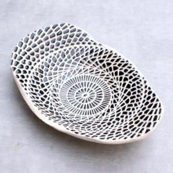 misa,patera,czarno-biała - Ceramika i szkło - Wyposażenie wnętrz