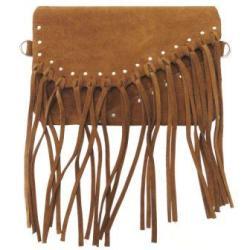 torebka zamszowa,torebka brązowa,skórzana torba - Na ramię - Torebki