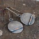 Kolczyki kolczyki ze srebra i złota