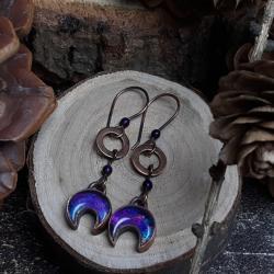 miedziane kolczyki lunule - Kolczyki - Biżuteria