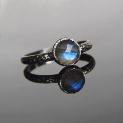 labradoryt,pierścionek,srebro - Pierścionki - Biżuteria