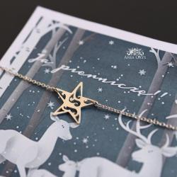 gwiazdka,zawieszka,wisiorek,aniagrys - Naszyjniki - Biżuteria