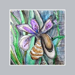dekoracja,do wnętrza,na ścianę,kwiaty,akwarela - Ilustracje, rysunki, fotografia - Wyposażenie wnętrz