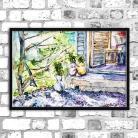 Obrazy akwarela,lato,natura,delikatny,sketch