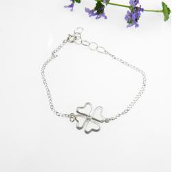 srebr,bransoletka,koniczynka - Bransoletki - Biżuteria