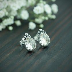 retro,romantyczne,kryształ,koronkowe,elegancki - Kolczyki - Biżuteria