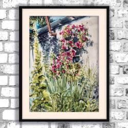 akwarela,kwiaty,krajobraz,delikatny - Obrazy - Wyposażenie wnętrz