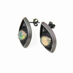 srebro,kolczyki,opal - Kolczyki - Biżuteria
