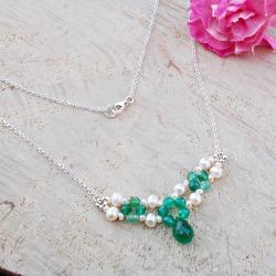 geometria,kamienie naturalne,perły,JewelsbyKT - Naszyjniki - Biżuteria