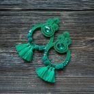 Kolczyki duże kolczyki,zielone kolczyki