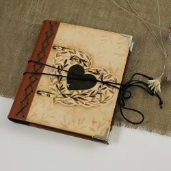notes,wypalany,z sercem - Notesy - Akcesoria