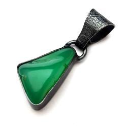 chryzopraz,blask,zielony,unikat,wiosenny,okaz, - Wisiory - Biżuteria