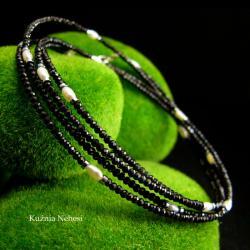 nehesi,naszyjnik,wisior,srebrny,spinelem,perła - Naszyjniki - Biżuteria