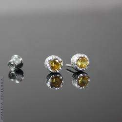 sztyfty,cyrkonie,żółte,delikatne,subtelne - Kolczyki - Biżuteria