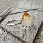 Pierścionki pierścionek srebrny,cytryn,boho