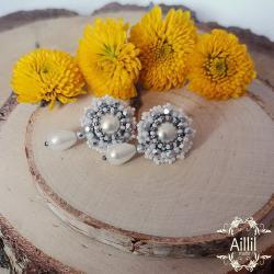 aillilstudio,ślubne,sztyfty,eleganckie - Kolczyki - Biżuteria