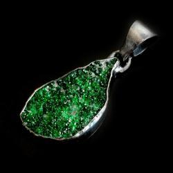 uwarowit,wiosna,srebrne,srebro,retro,kryształy, - Wisiory - Biżuteria
