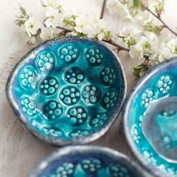 ceramika,miseczka,turkusowa - Ceramika i szkło - Wyposażenie wnętrz