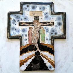 Beata Kmieć,ikona ceramiczna,krzyż,ikona krzyża - Ceramika i szkło - Wyposażenie wnętrz
