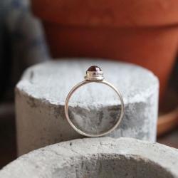pierścionek srebro bursztyn - Pierścionki - Biżuteria