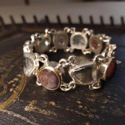 srebrna bransoleta,dla niej,unikat - Bransoletki - Biżuteria