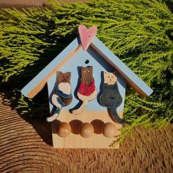 domek na klucze,kot,koty,kotki,na klucze - Ceramika i szkło - Wyposażenie wnętrz
