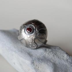 duży,masywny,pierścień,nitza,czerwony,rodolit - Pierścionki - Biżuteria