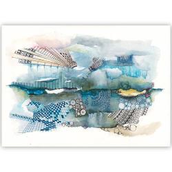 akwarela,tusz,rysunek,abstrakcja,malarstwo,sztuka - Obrazy - Wyposażenie wnętrz