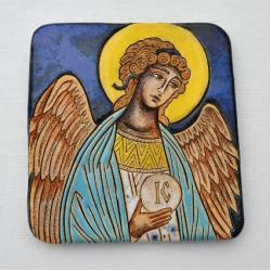 Beata Kmieć,ikona ceramiczna,Anioł,Stróż - Ceramika i szkło - Wyposażenie wnętrz