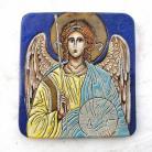 Ceramika i szkło Beata Kmieć,ikona ceramiczna,Anioł,Archanioł