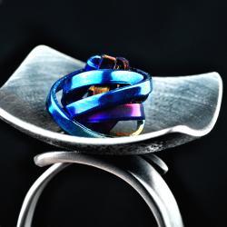 nowoczesny industrialny pierścionek - Pierścionki - Biżuteria