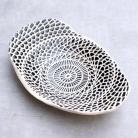 Ceramika i szkło misa,patera,czarno-biała