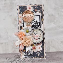 kartka,urodziny,życzenia,kwiaty,balon - Kartki okolicznościowe - Akcesoria